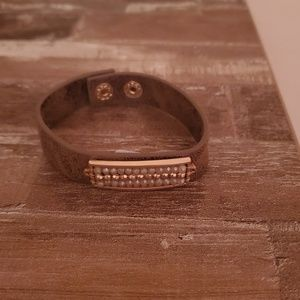 Leather Braclet with Beads